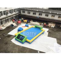 China Door Close To Door Outdoor Inflatable Soap Football Arena , Inflatable Water Football Pitch With Bottom on sale