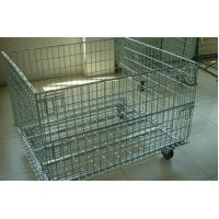 Quality Wire Mesh Container with Removable Wheel for sale