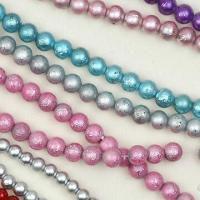 China Silver-foiled Beads in Round and Oval Shapes on sale