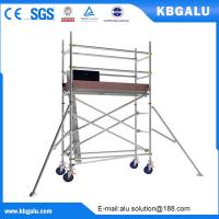 China Single width aluminum scaffold tower with 2.0m standing height on sale