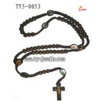 Quality Fashion Wooden Rosary Necklace (TY5-0053) for sale