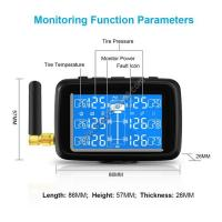 Quality Factory Supply 12V Truck tpms tyre pressure monitors system TPMS Truck with internal external sensors for sale