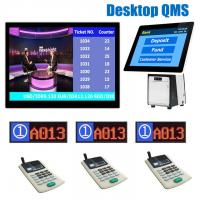 Quality Bank/Hospital/Clinic Service Counter Table Desktop 15.6 inch Wireless Queue Management Numbering Token Q System for sale