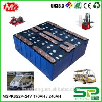 Quality Economy rechargeable 24v 210ah Lithium ion battery with PCM For Electric Automatic Stacker for sale