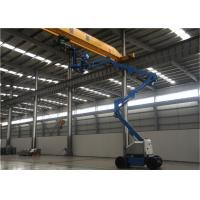 Quality Accessing Narrow Space Single Man Lift , Aerial Boom Lift Precise Maneuverability for sale