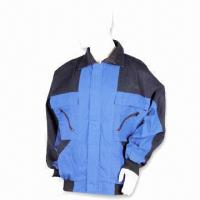 Quality Flame-retardant Work Jacket, Made of 65% Polyester and 35% Cotton for sale