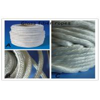 Quality Heat Thermal Resistant Glass Fibre Rope Round , 5 - 25mm Braided for sale