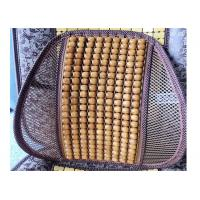 Quality Yellow Beads Wooden Car Seat Back Support / Lumbar Car Seat Cushion 41*41cm for sale