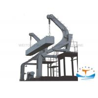 Quality Steel Gravity Luffing Arm Type Davit 85 Kn Working Load With Boat Own Gravity Power for sale