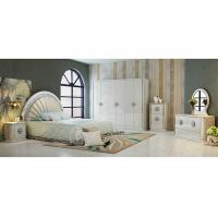 Quality Durable PU Leather Khaki  and White Option Color With 2.4 Meter  High Gloss Wardrobes for sale