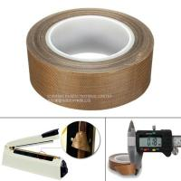 China Heat Resistance PTFE  Tape 0.13MM Coated Fiberglass With Silicone Adhesive on sale