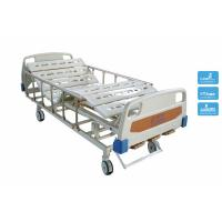 Quality Medicare Adjustable Double Crank Manual Hospital Bedding with Wheels and Rails for sale