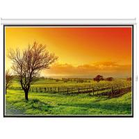 China 100 4:3 motorized electric projection projector screen HD 3D TV home theater glass beaded on sale