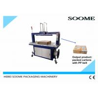 Quality Customized Size Carton Strapping Machine , High Capacity PP Belt Corrugated Boxe Baler for sale