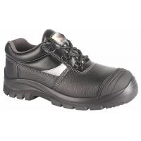 Quality Black Anti Slip PPE Safety Shoes Water Proof Oil Proof With Steel Toe Cap for sale