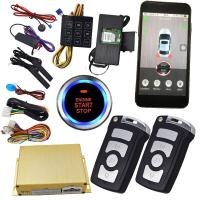 Quality GPS Tracking Smartphone Car Alarm With Passcode Keyless Entry Central Lock Door Auto Start Stop Button for sale