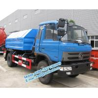 Hydraulic lift blue color Dongfeng 4X2 8 ton hook lift truck cheap price for sale