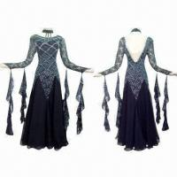 Quality Ballroom Dance Dress, Made of Lycra with Korean Stones Decoration, Customized Sizes are Accepted for sale