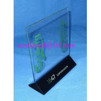 China Triangular base series acrylic menu holder / acrylic label holders / acrylic sign holder on sale