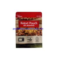 China Aluminum stand up retort pouch for meat, retort stand up bags food grade on sale
