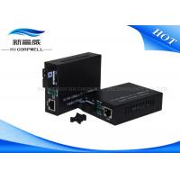 Quality 10 / 100 / 1000M Single Fiber Optic Transceiver IEEE802.3z Non - Condensing for sale