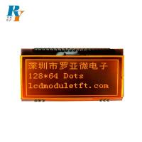 China FSTN ST7565P Transmissive LCD Module Display Orange Backlight 128x64 Dots on sale