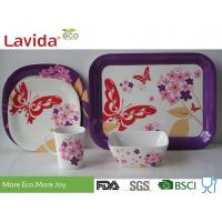 Quality Reusable Melamine Dinnerware Sets Fresh Vivid Nature Garden Heat Resistance Non - Toxic for sale