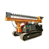 Quality Ground Screw Helical Construction Pile Drilling Machine With 4105 Turbocharged Engine for sale