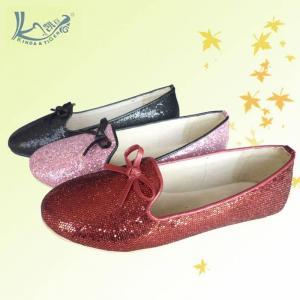China 2013 charming latest girls glitter flat shoes on sale