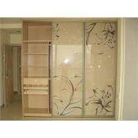 Glass Sliding Door To Wood Wardrobe Of Easilycarbinet