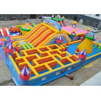 Quality Giant Kids Fun Inflatable Jumping Castle Maze Jumping Bouncy Castle Lead Free for sale