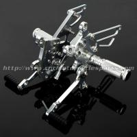 Quality Aluminum Silver / Black Motorcycle Rear Sets , Custom Motorcycle Foot Pegs for sale