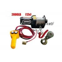 China 12V 2000LB Heavy Duty Electric Winch Truck With ATV Rope Wireless Remote on sale