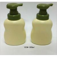Quality Recyclable Round Shape Plastic Foamer Bottles Ivory / Green Color for sale