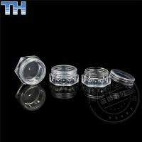 Quality Transparent Plastic Cosmetic Jars Hexagon Shape For Cosmetic Packing 5g for sale