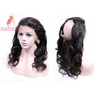 Quality Full Curticle Aligned 360 Lace Frontal  Natural Black With Body Wave Virgin Hair for sale