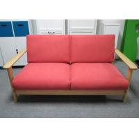 Buy cheap Colorful Solid Ash Wood 2 persons Seater Sofa Furniture 1550 X 830 X 749 mm from Wholesalers