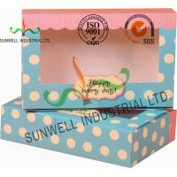 Quality UV Coating Paper Egg Tart Take Away Food Packaging Boxes Gold Stamping for sale