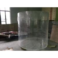Quality Clear Round Acrylic Aquarium Fish Tanks For Building Decoration for sale