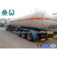Round Shape Large Capacity Gas Tank Semi Trailer Anti - Corrosion Propane