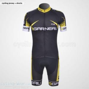 China Louis Garneau Team Giodano Black Yellow Short Sleeve Cycling Jersey An on sale