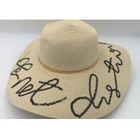 China Womens Sun Hat Foldable Floppy Travel Packable  Summer Beach Straw Hats on sale