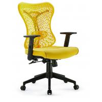 Quality High End Yellow Ergo Mesh Office Chair Adjustable Arms With Head Up And Down for sale