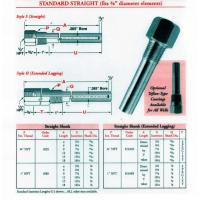 Customized stainless steel thermocouple thermowell for