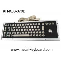 Quality Stable Performance Industrial Metal Computer Keyboard , Well Compatible Trackball Keyboard for sale