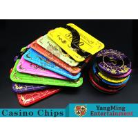 Crystal Acrylic Casino Poker Chips With Mesh Bronzing Silk Screen