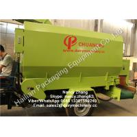 Quality Mobile Silage Spreader Machine TMR Feed Mixer For Dairy Cows , Diesel Engine for sale