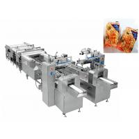 Quality Automatic Bread Snack Food Production Line / Flow Wrapping Machine for sale