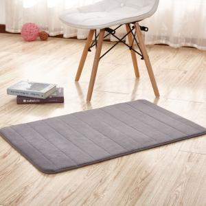 Quality Thick Memory Foam Floor Mats, Bulky Fleece Fabric Grey Fast Drying Bath Mat for sale