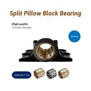 China Pillow Blocks Oilless Bronze Graphite Plugged Bushings Housing * Bearings on sale